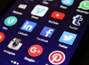 social media apps on mobile screen