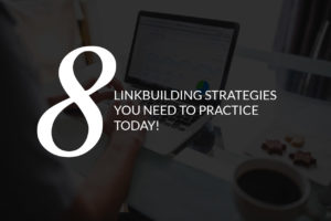 8 linkbuilding strategies blog post featured image