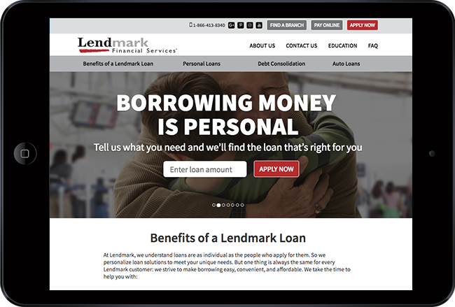 financial website - lendmark