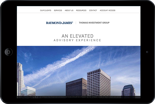 financial website - raymond james thomas investment group