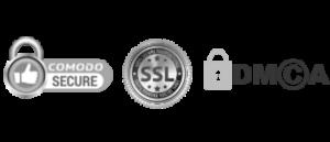 Comodo, SSL, DMCA Logos