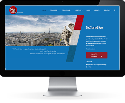 travel site web design