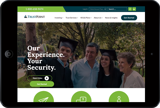 financial website design by trust point financial group