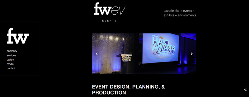 fresh wata event website design