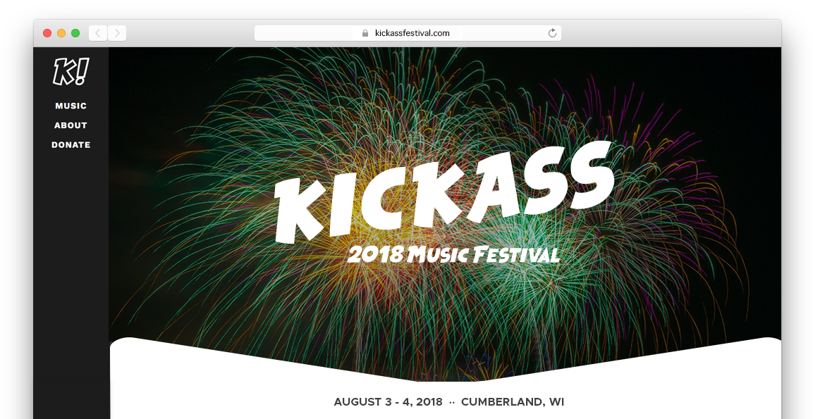 Music Festival Website
