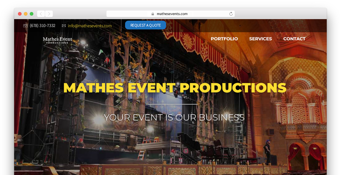 Event Company Website