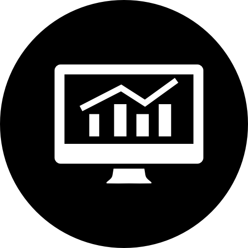graph bar on computer screen graphic