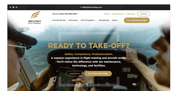 Aviation Company Homepage