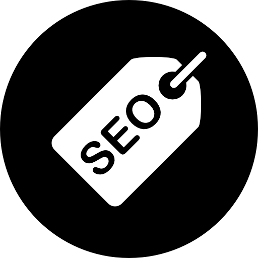 SEO on a shopping tag graphic