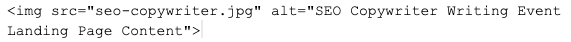 Image ALT text code example