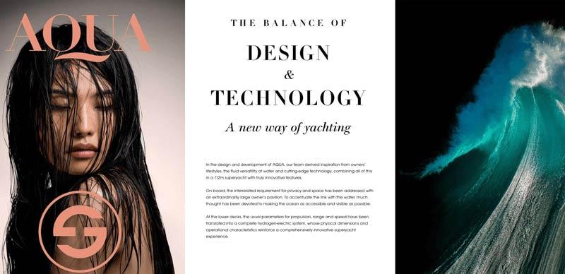 Aqua Yachts homepage design example