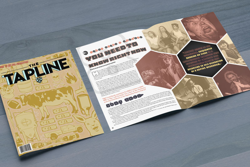 The Tapline Beer Magazine - cover and main story spread