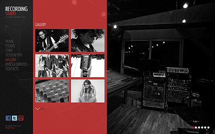 minimal music studio website design example