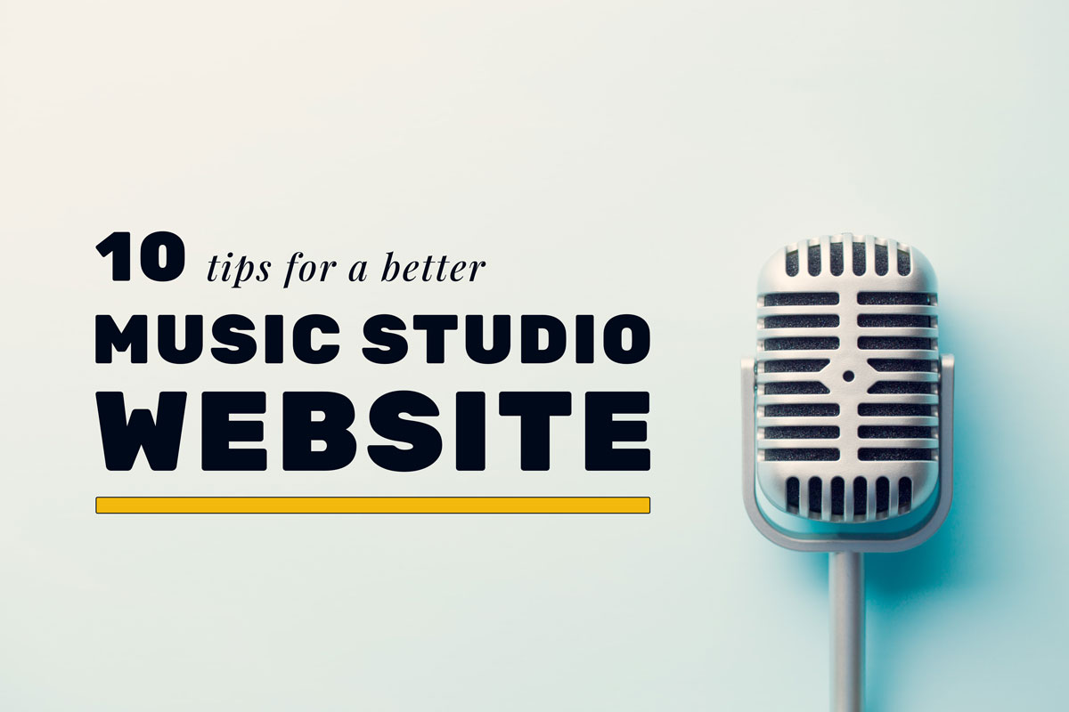 10 tips for a better recording studio website featured image