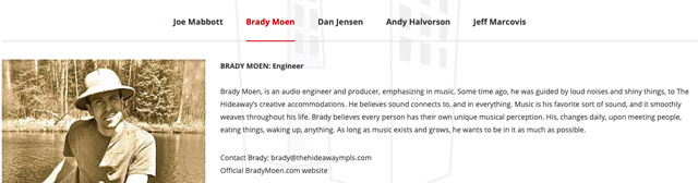 Minneapolis Recording Studio - Engineer About Section