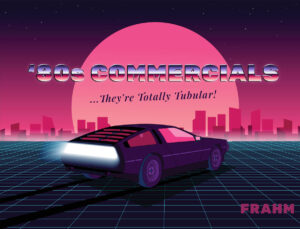 80s Commercials Cover Image - Delorean in synth wave computer style setting