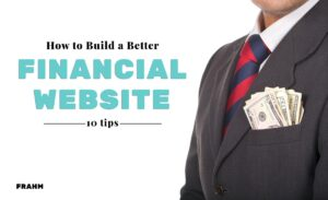 financial website design tips cover image - man in suit with money in breast pocket
