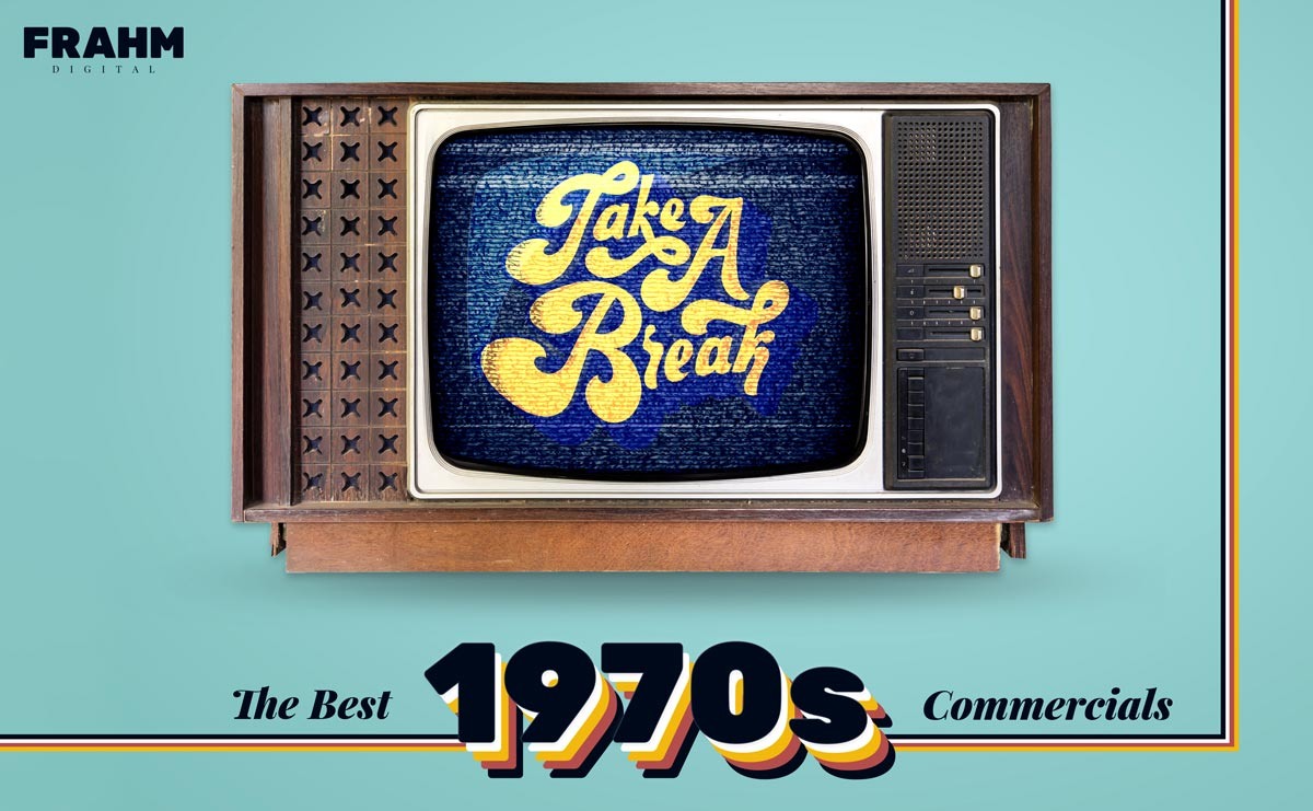 Tube TV with Break Message. Text reads: The Best 1970s Commercials