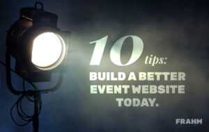 Event Web Design Tips Cover Image of a Can Spotlight