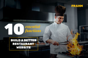 10 functions of a restaurant website: Cover image of a chef cooking in kitchen