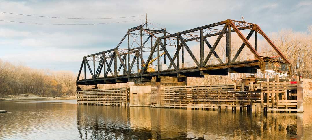 Dan Patch Swinging Bridge in Bloomington, MN
