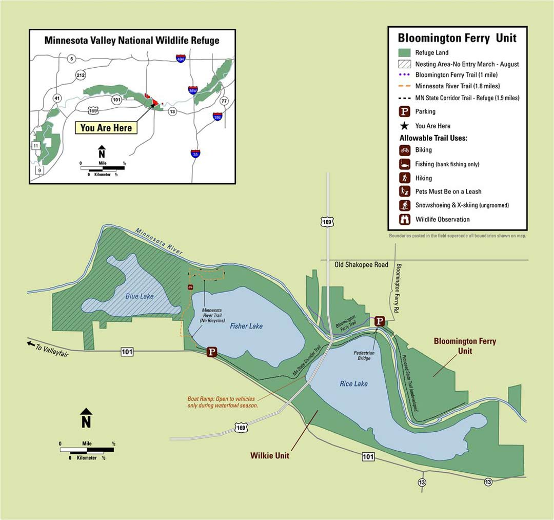Minnesota Valley Wildlife Refuge Map