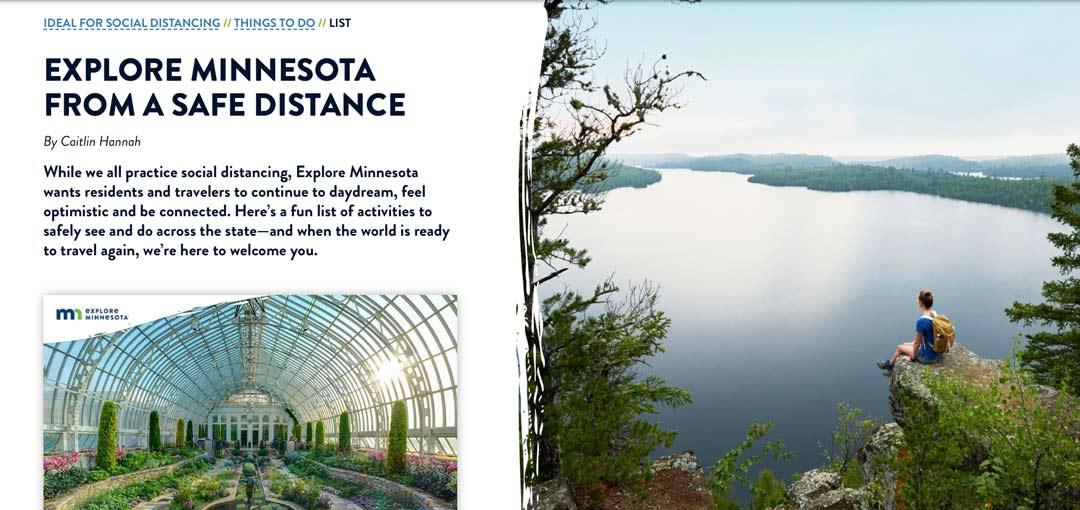Explore Minnesota Virtual Tour Website Screenshot
