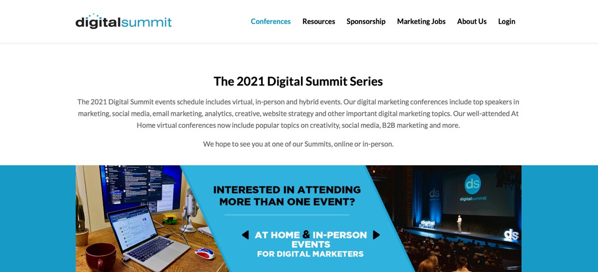 Digital Summit Minneapolis: Local Events Web Page