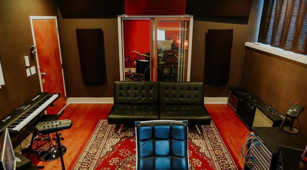 Minneapolis Recording Studio #8: F5 Soundhouse - view of Control Room and Isolation Booth