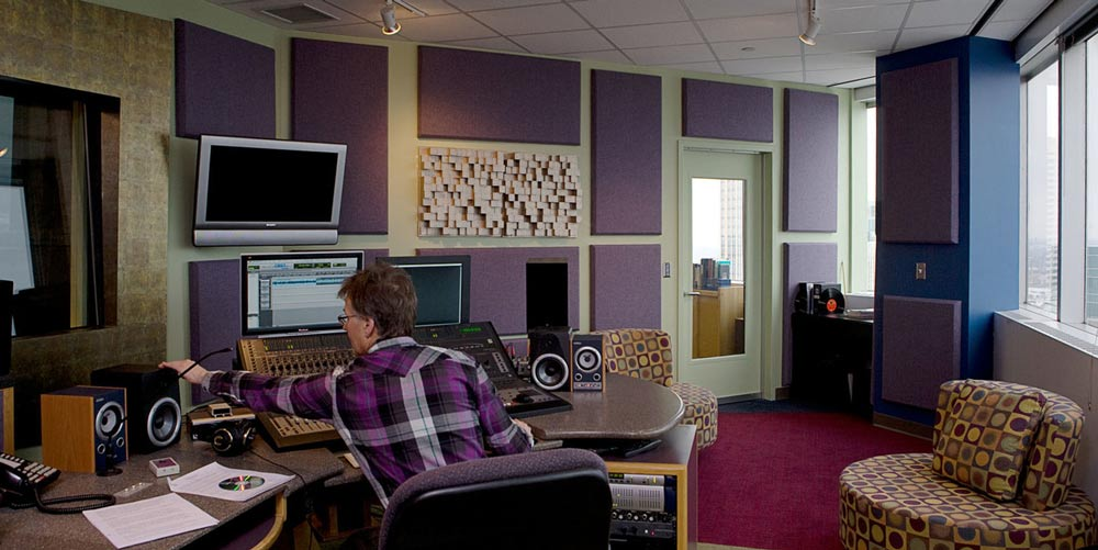 Commercial Recording Studio Minneapolis #10: Sound 80 - view of mixing room and audio engineer