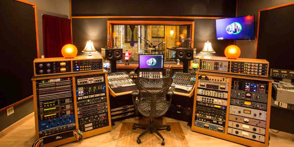 Minneapolis Recording Studio #1: The Hideaway - Mixing Board and Control Room