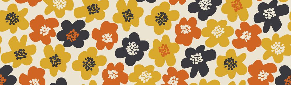 1970s flower pattern