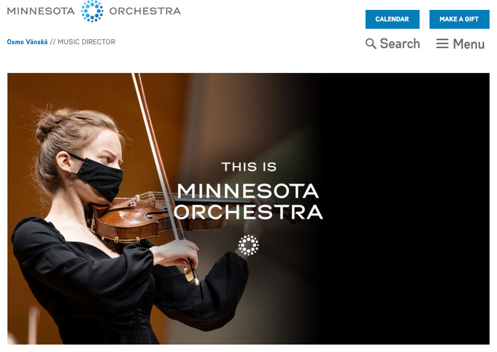 Minnesota orchestra website example