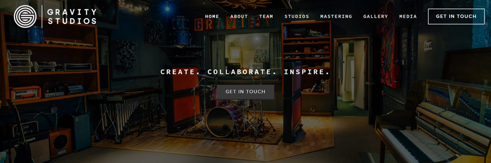Gravity Studios Website Example