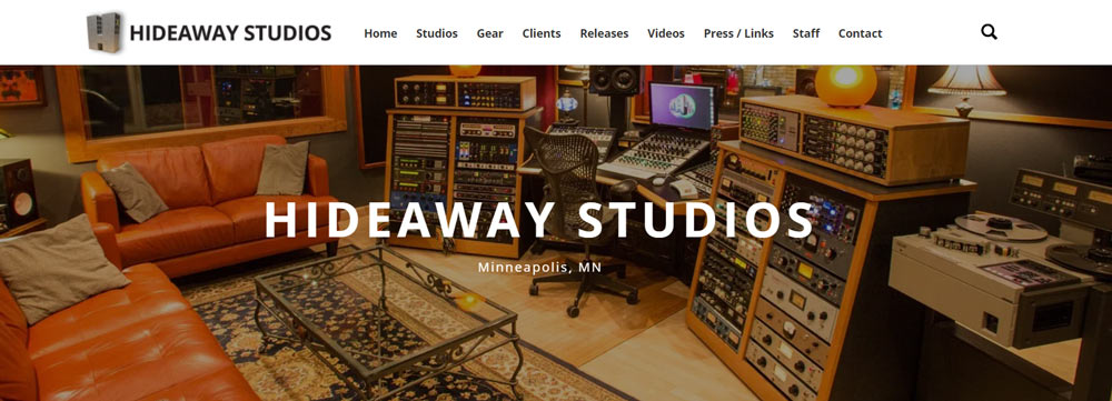 Hideaway Studios Minneapolis Website
