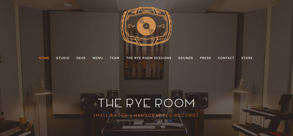 The Rye Room Recording Studio Website Example