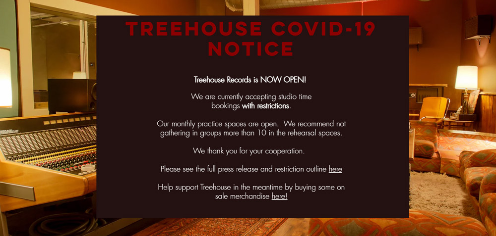 Treehouse Records Chicago Website Announcement