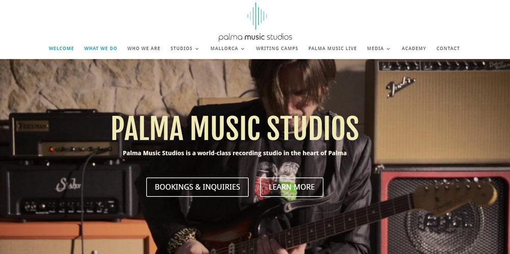Palma Music Studios Website